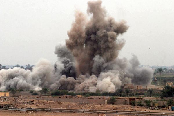 air-strikes