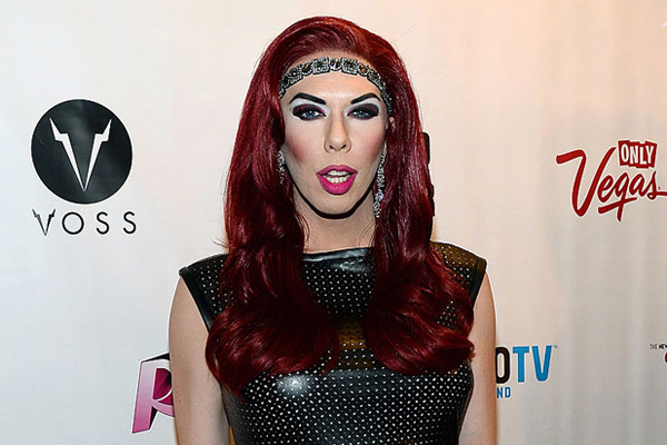 "LAS VEGAS, NV - MAY 19:  Cast member of season six of ""RuPaul's Drag Race"" Kelly Mantle arrives at a viewing party for the show's finale at the New Tropicana Las Vegas on May 19, 2014 in Las Vegas, Nevada.  (Photo by Ethan Miller/Getty Images)"